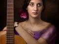 Mujer con a guitarra Julio Romero de Torres