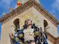 MAJESTUOSAS.(Simbolica unión entre la Virgen Dolorosa y la Torre de la Iglesia del Salvador.